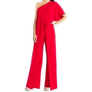 Red Adrianna Papell jumpsuit